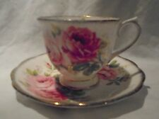 Vintage Royal Albert American Beauty Bone China Tea Cup and Saucer