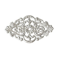 15 SILVER TONE FILIGREE SCULPTING CONNECTORS~5.5cm x 3.2cm~Bracelet~Charms (8J)