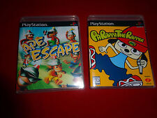 EMPTY CASES!  Ape Escape - Parappa the Rapper - Sony PlayStation 1 PS1 PSX PS3
