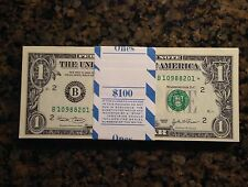 FRESH STAR PACK 100  $1 NOTE BILL YEAR 2003 UNCIRCULATED CONSECUTIVE NEW YORK