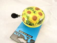 Sunflower Large Ding Dong Bicycle Bell Traditional Dutch Style Bell