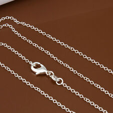 New Fashion 1Pcs 1mm Solid Silver Rope Chain&Necklace WXL8 22inch For Pendant