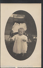 Genealogy Postcard-Ancestors Photo - Child Posing In Front Pram or Chair  MB2719