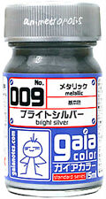 GAIA COLOR 009 Bright Silver GUNDAM MODEL KIT LACQUER PAINT 15ml NEW Free Ship