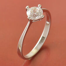 silver plated Cubic Zirconia Wedding Engagement promise love Ring lot Size 9