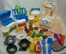 Vintage Fisher Price Pretend Appliances, Dishes, Food- HUGE lot