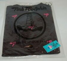PINK DOLPHIN SHIRT NWT, SIZE LG [ PINK  P ]  EMBROIDERED ALL OVER SHIRT