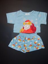 Build a Bear Clothes Clothing Boy Outfit Santa Clause top with Matching shorts