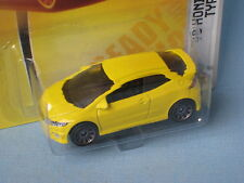 Matchbox Honda Civic Type R Yellow Hot Hatch Toy Model Car 67mm Long