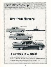 1962 Mercury Comet Meteor Monterey - Original Car Advertisement Print Ad J223