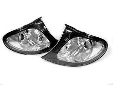 Depo 02-05 BMW E46 4D/5D OEM Euro Style Black / Clear Corner Signal Light Pair