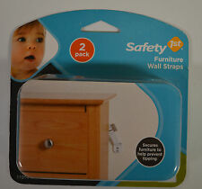 Safety 1St/Dorel 11014 WHT Furniture Wall Straps FREE SHIPPING #neww