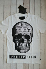 BNWT PHILIPP PLEIN 'FOREVER AND EVER' T-SHIRT WHITE SIZE MEDIUM 2016 MONEY SKULL