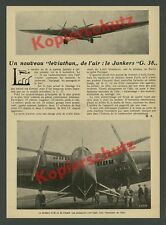 Or. photos aviation Junkers g.38 Erstflug mécanicien aérodrome Dessau 1929