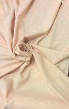 """Pale Peach Linen Voile 114"""" Wide Double Width Curtain/ Display Fabric"""