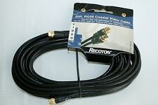 "Recoton 25FT RG59 Coaxial Video Cable DVD TV VCR other ""F"" Connectors"