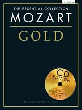 The Essential Collection Mozart Gold Play Classical Piano Music Book & CD