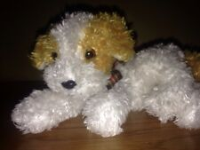 DARLING the White & Gold DOG  - Ty Beanie Baby 2001 - Silky Soft  Dog  - EUC