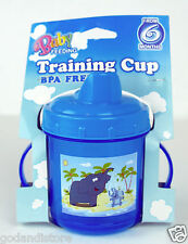 Blue Training small Cup Baby Feeding beach design dual handles BPA FREE 6+ Month