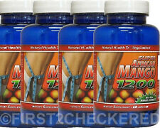 4 Super African Mango 1200 Extract Burn Fat Weight Diet Loss Irvingia Gabonensis