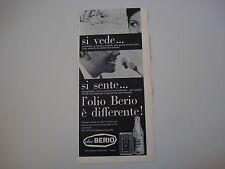 advertising Pubblicità 1963 OLIO BERIO