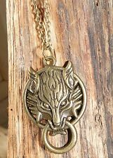 COLLIER TETE DE LOUP FINAL FANTASY EN BRONZE