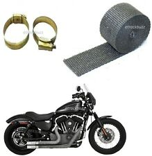 Silencer Wrap Grey Exhaust Heat Shield 3 MTR With CLIP For Royal Enfield Bullet