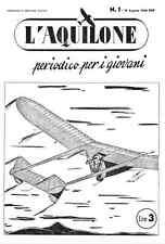 GIORNALE PROPAGANDA AERONAUTICA MODELLISMO AEREO L'AQUILONE 1944 COMPLETA - DVD