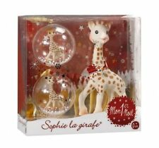 My First Christmas 2 Christmas balls and sophie the giraffe Vulli teether New