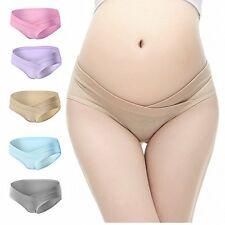 PIDAY Womens Under the Bump Cotton Maternity Hipsters Panties Multi Pack