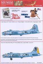 Kits World Decals 1/48 B-17G FLYING FORTRESS Liberty Belle & Times A Wastin