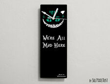 Cheshire Cat - We're All Mad Here - Wall Clock