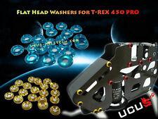 Blue CNC Flat Head Washers for T-Rex 450 PRO T-rex