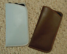 Two (2) Eyeglass Cases - Blue and Brown