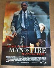 MAN ON FIRE - MANN UNTER FEUER - FILMPLAKAT A1 - DENZEL WASHINGTON - AF378