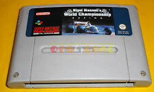 NIGEL MANSELL WORLD CHAMPIONSHIP RACING Super Nintendo SNES PAL ○ SOLO CARTUCCIA