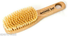Kent Aqua Beechwood BATH & SHOWER BODY BRUSH Short Handle Back Scrubber FD6