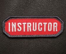 INSTRUCTOR USA ARMY COMBAT BADGE MILITARY MILSPEC RED VELCRO® BRAND PATCH