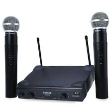 WEISRE PGX58 VHF Dual Wireless Microphone with Receiver for Karaoke