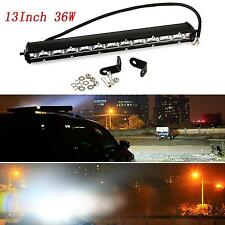 36W SPOT SLIM CREE LED Single Row Offroad Work Light Bar ATV UTV SUV 13 inch WIS