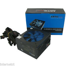 Quiet ARTIC BLUE da 750W ATX PSU 8 PIN-MOLEX-PCI-E & 120mm Blue FAN Alimentatore