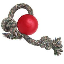 Kong Rubber Ball on a Rope Fetch Catch & Retrieve Dog Toy Small