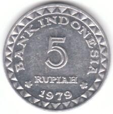 1979 Indonesia 5 Rupiah Aluminum Coin - Family Planning Program - Asia