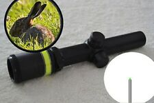 1.5-6x24 Fiber Optic Scope Green Triangle illuminated Telescopic Rifle Scope HOT
