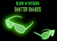 Shutter Shades (12) Glow In The Dark Sunglasses Cool Fun Lot of 12 Party Favor