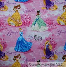 BonEful Fabric Cotton Quilt Pink Disney Princess Girl Doll Dress Costume L SCRAP