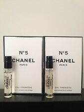 Lot of 2 Chanel No5 Eau Premiere Eau de Parfum EDP Sample Spray 2ml/0.07oz each