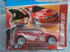Hot Wheels 2012 #033/247 SUBARU WRX STI red PREMIERE New model