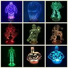Marvel The Avengers 3D Illusion Superhero Color Changing DC Table Desk Lamp