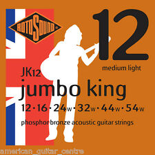 Rotosound JK12 Jumbo King Acoustic Guitar Strings 12 to 54